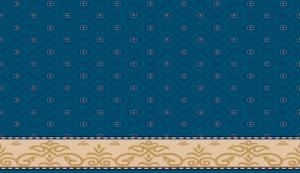 S106_koyu_mavi yün cami halısı deseni