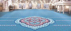 akrilik göbekli cami halısı